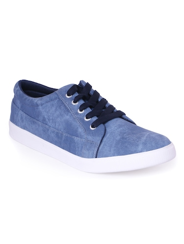 blue Denim lace up sneaker - 13066941 - Standard Image - 1