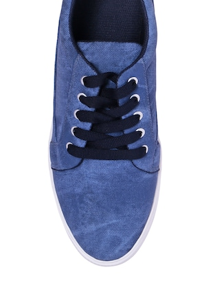 blue Denim lace up sneaker - 13066941 - Standard Image - 4