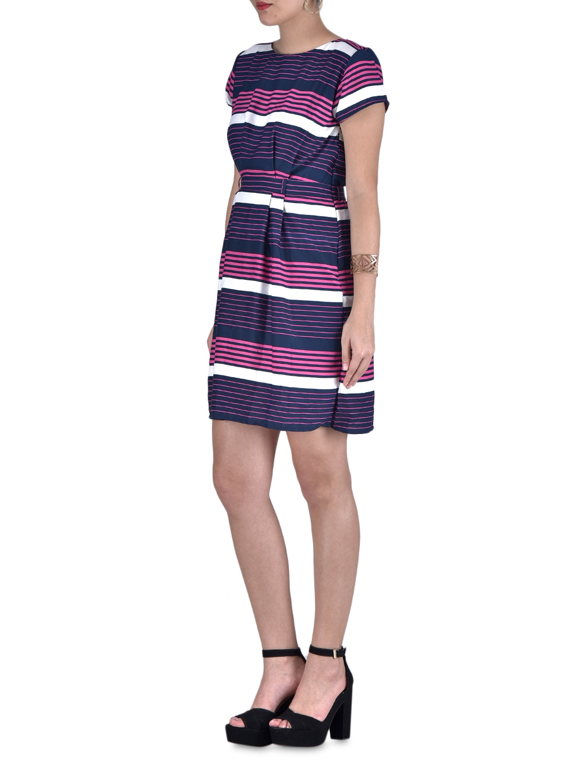 5d30f2e47644 Buy Purple Printed Party Wear Dress by Mayra - Online shopping for Dresses  in India