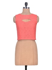 Pink Net Top - By