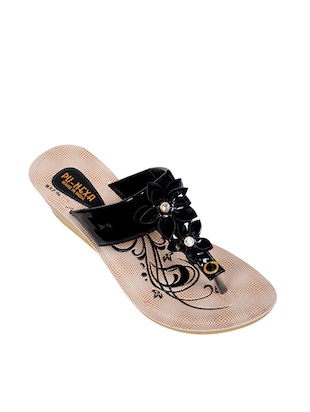 6c809f054a44 black tpr toe separator sandals - online shopping for sandals