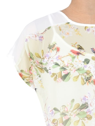 White georgette cotton printed top - 1307425 - Standard Image - 4