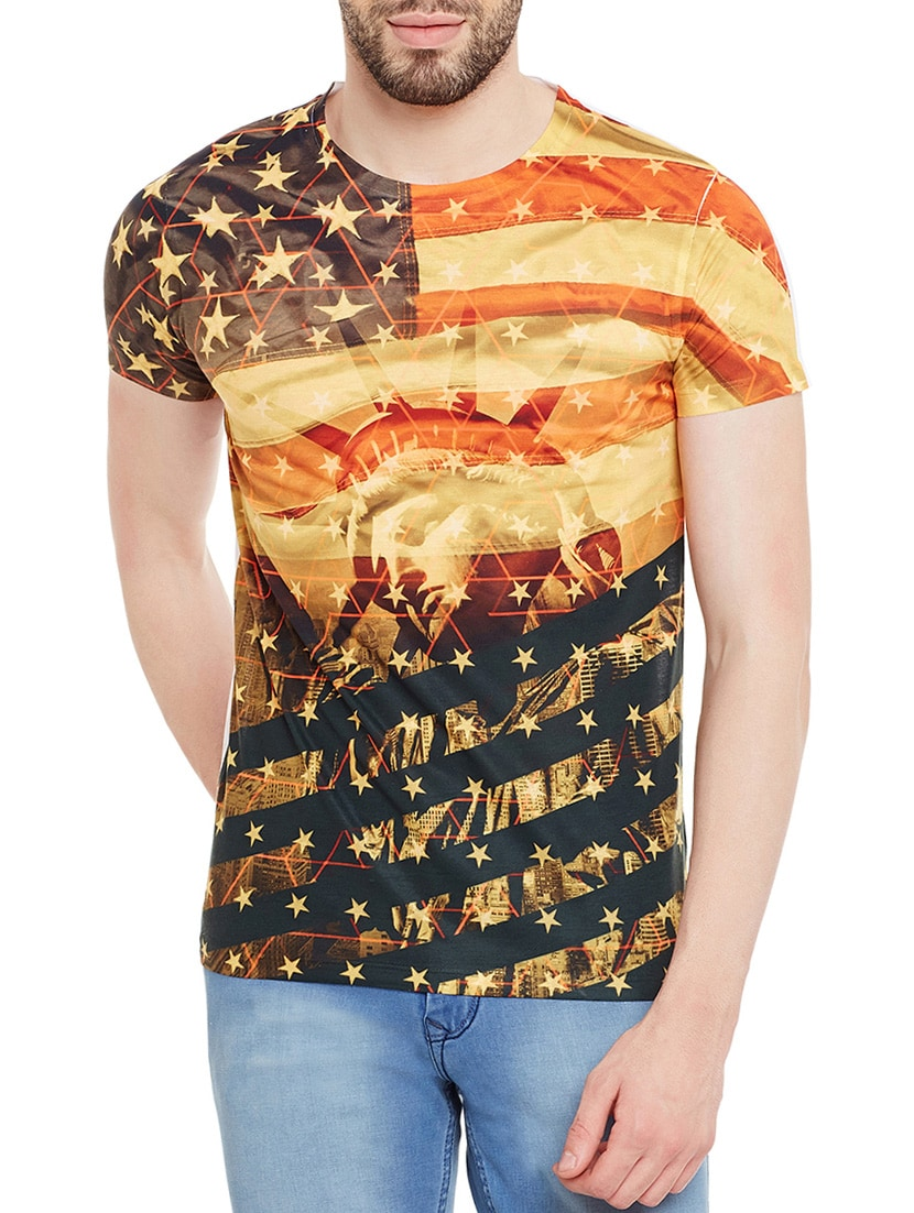 666a58d40 Buy Multicoloured Polyester Graphic Printed T-shirt for Men from Wear Your  Mind for ₹713 at 35% off   2019 Limeroad.com