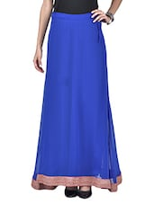 Royal Blue Polygeorgette Maxi Skirt - By