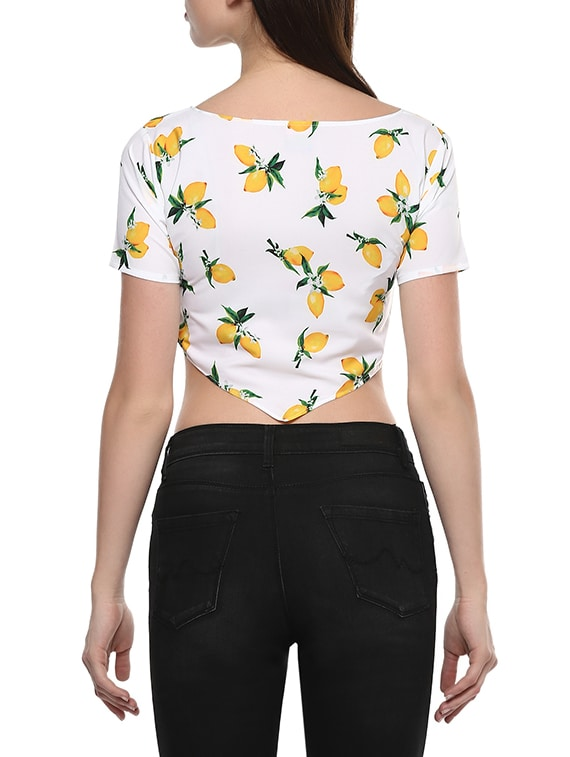 1f4d3ebc237 Buy White Crepe Crop Top for Women from Ahalyaa for ₹454 at 58% off | 2019  Limeroad.com