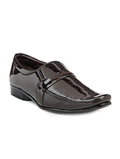 brown Patent Leather formal slip on -  online shopping for Slip Ons