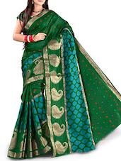 Green Banarasi Silk Saree - By