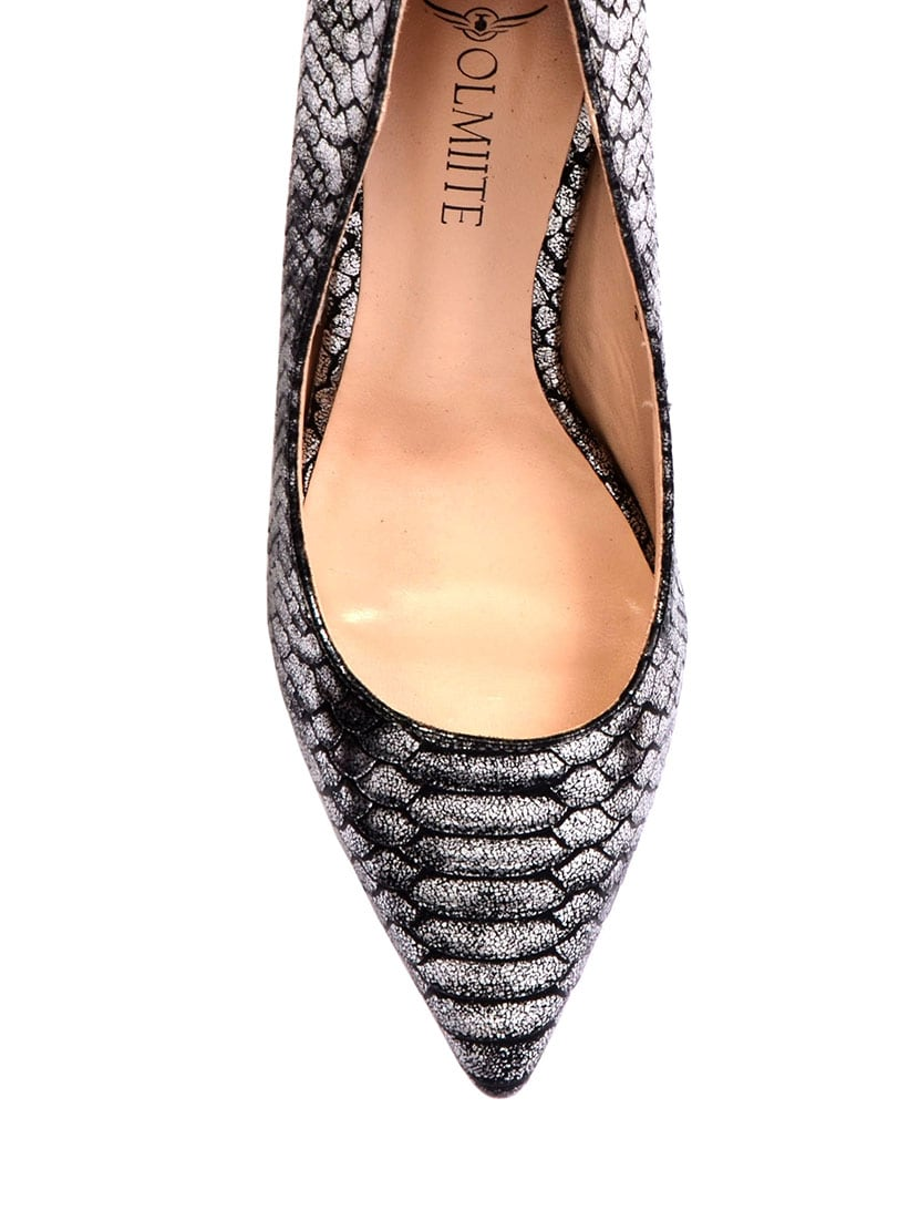67555eb3696 Buy Grey Patent Leather Slip On Pumps for Women from Olmiite for ...
