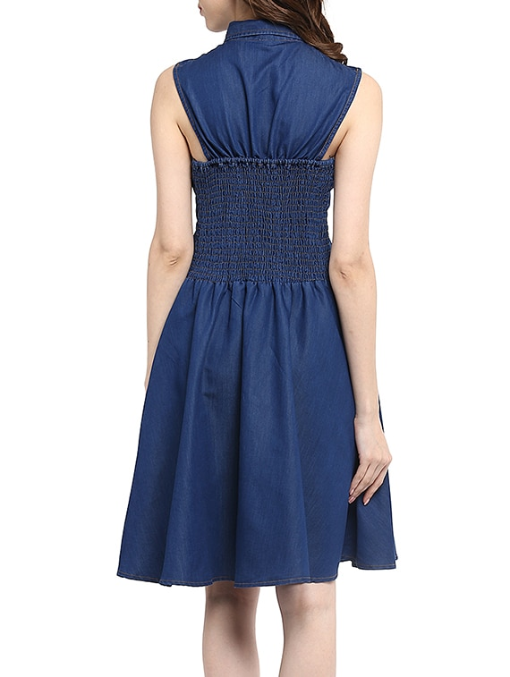 c805e5c7adf Buy Blue Denim Flared Dress for Women from Stylestone for ₹935 at 48% off