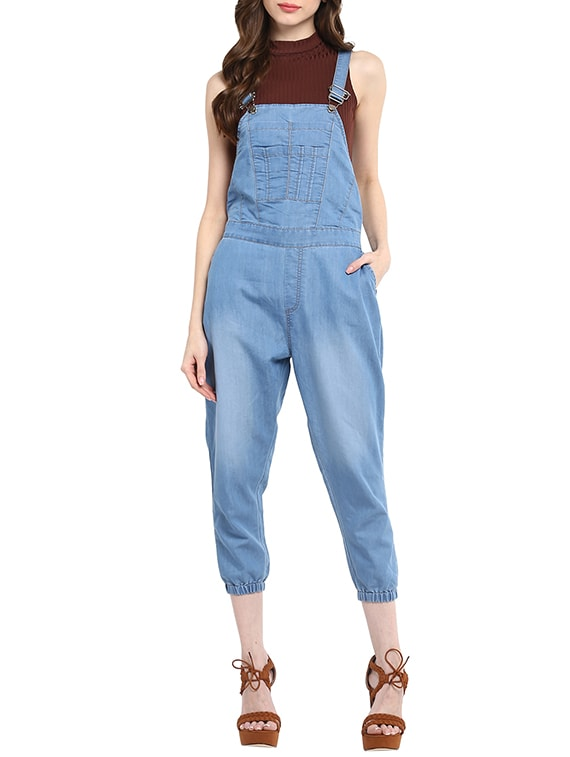bde175e2e8 Buy Blue Denim Jumpsuit by Stylestone - Online shopping for Jumpsuits in  India