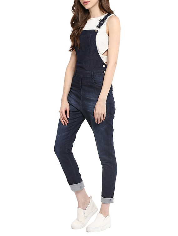 568fe83265 Buy Navy Blue Denim Jumpsuit for Women from Stylestone for ₹1227 at 44% off