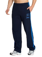 navy blue cotton  full length track pant -  online shopping for Track Pants