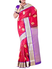 pink silk kanjivaram saree -  online shopping for Sarees