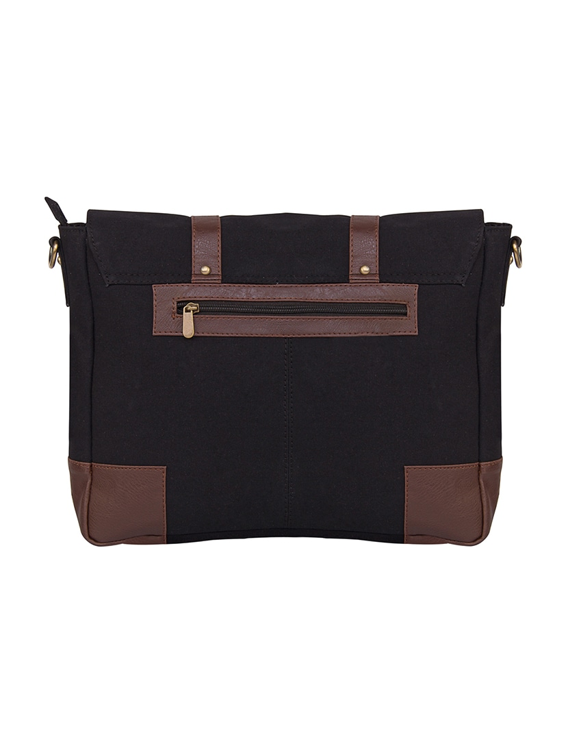 Buy Black Canvas Messenger Bag for Men from Purseus for ₹1157 at 42% off  8bed57ba60e17