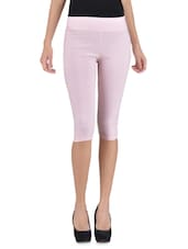 Baby Pink Cotton Capri - By