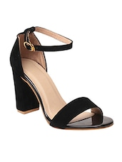 black ankle strap sandal -  online shopping for sandals
