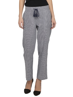 grey cotton trouser -  online shopping for Trousers