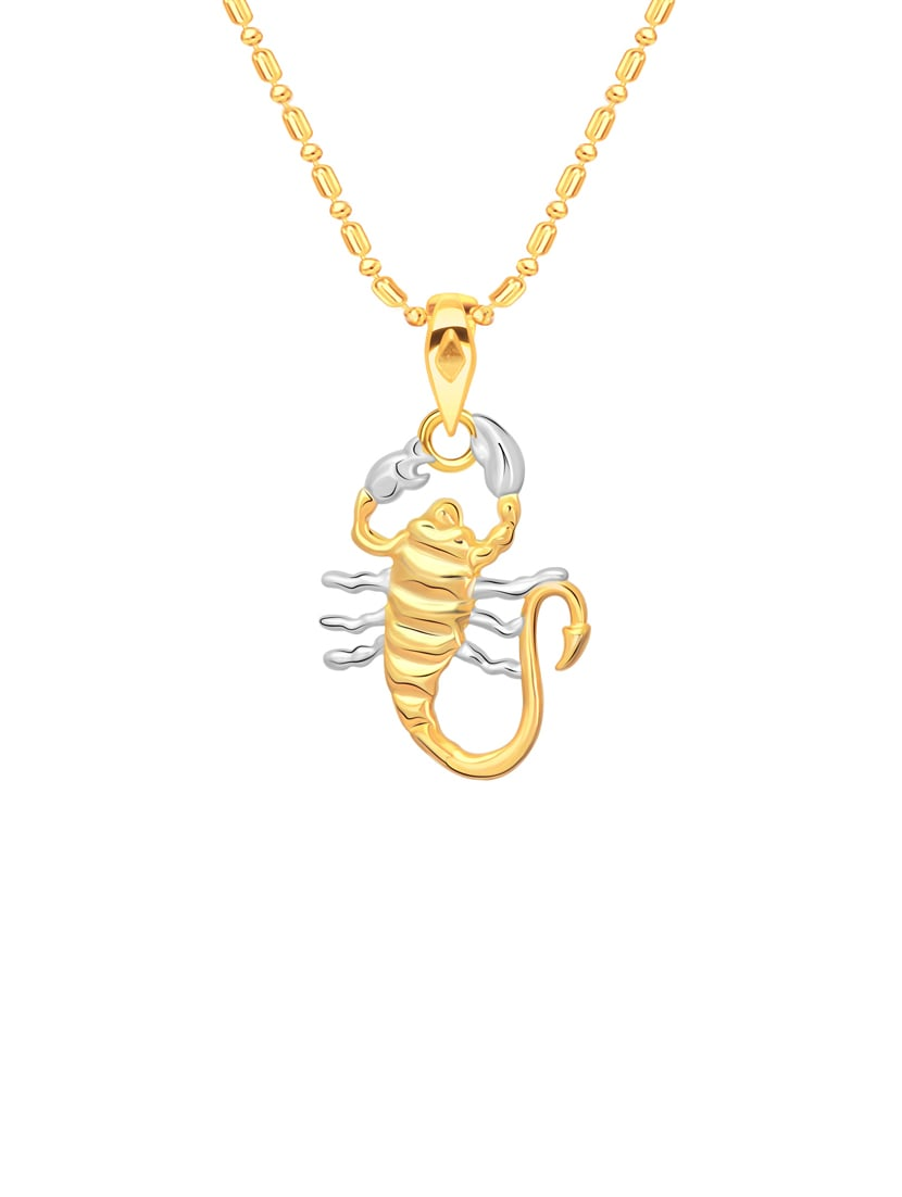 gold metal pendant with chain (Men & Women)