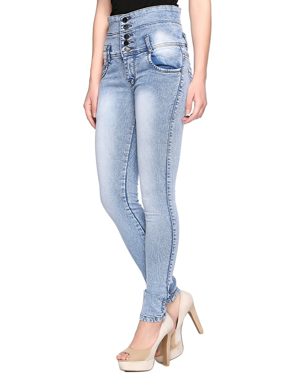 18508862a11 Buy Blue Denim Skinny Fit Jeans for Women from Fasnoya for ₹1139 at 43% off