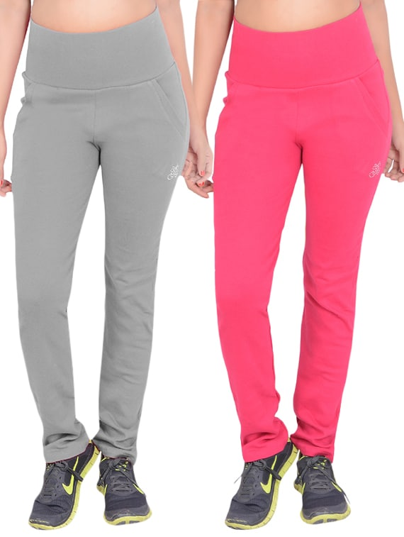 4878de51 Buy Set Of 2 Multicolored Cotton Track Pants for Women from Sweekash for  ₹994 at 51% off   2019 Limeroad.com