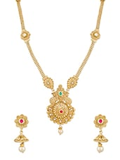 Gold Plated Long Necklace - By