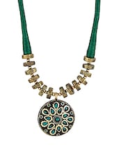 Green Metal Tribal Necklace - By