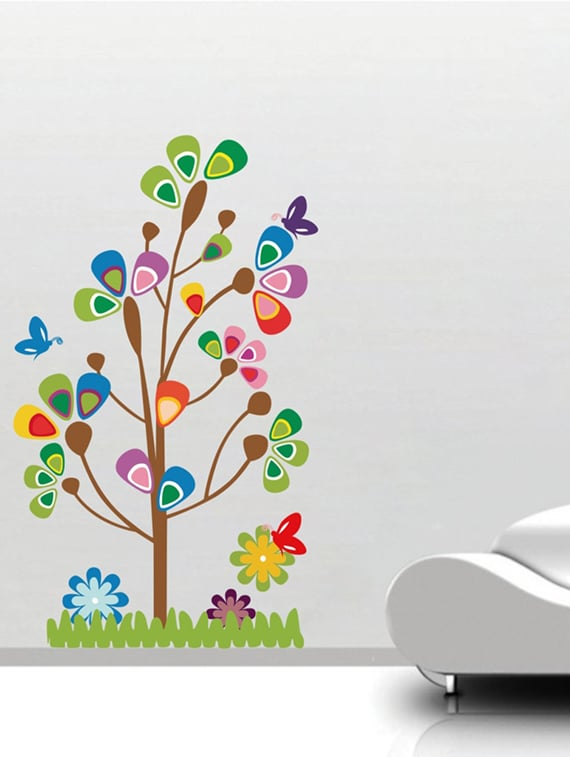 buy wall sticker (new design tree,wall covering area 40 x 24 inch
