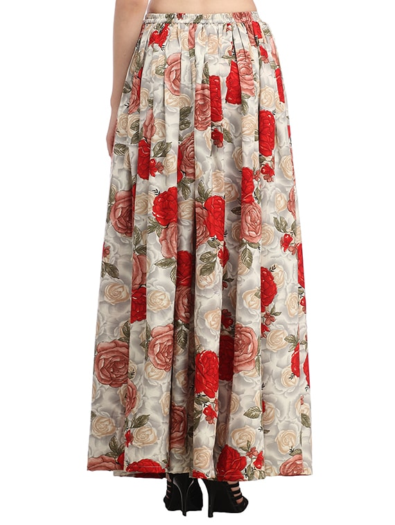 e38d98697d6d Buy Multicoloured Printed Maxi Skirt by Cation - Online shopping for Skirts  in India