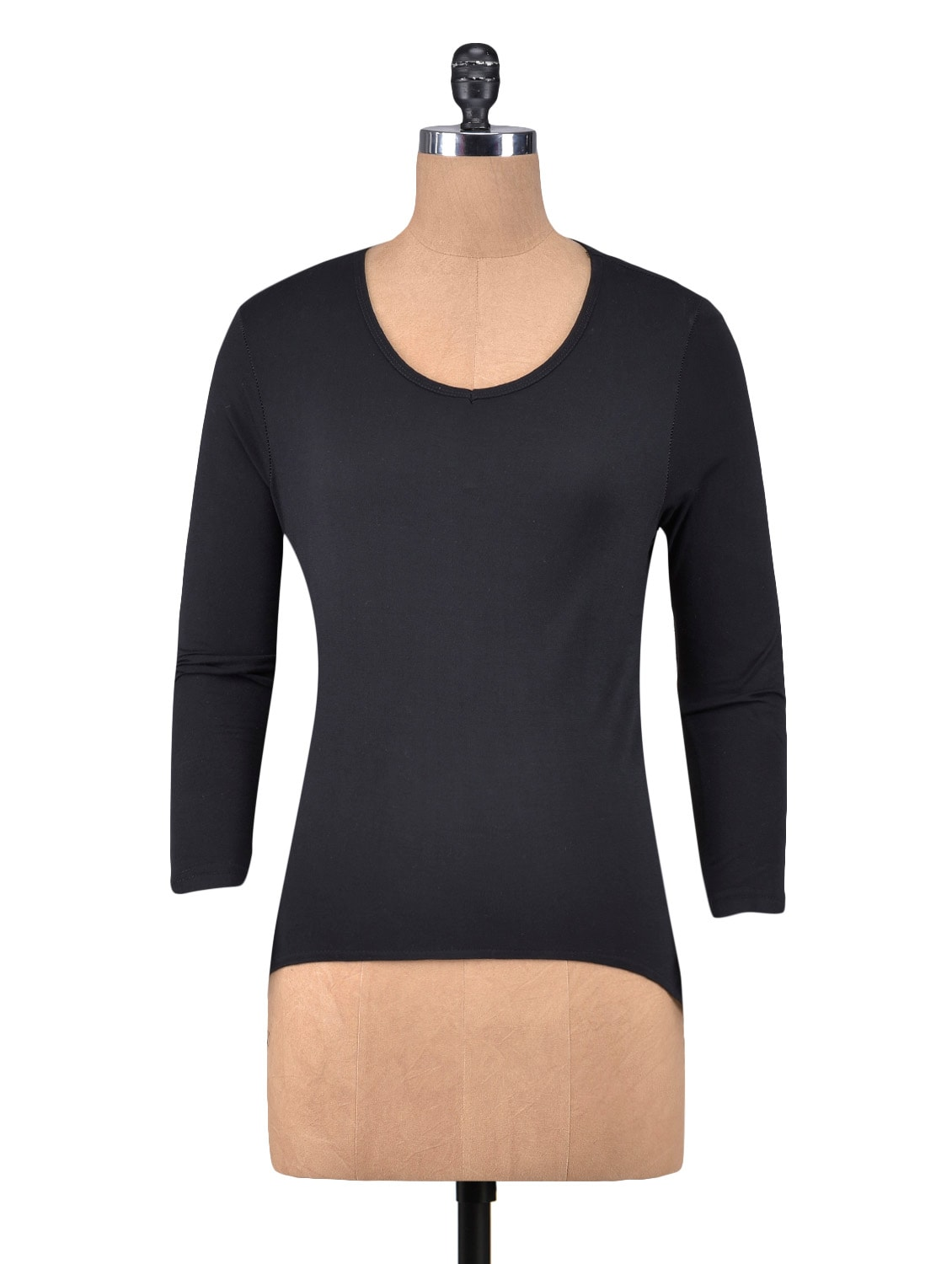 00a8cf6e Buy Black Viscose Plain Top for Women from Vvoguish for ₹425 at 39% off |  2019 Limeroad.com