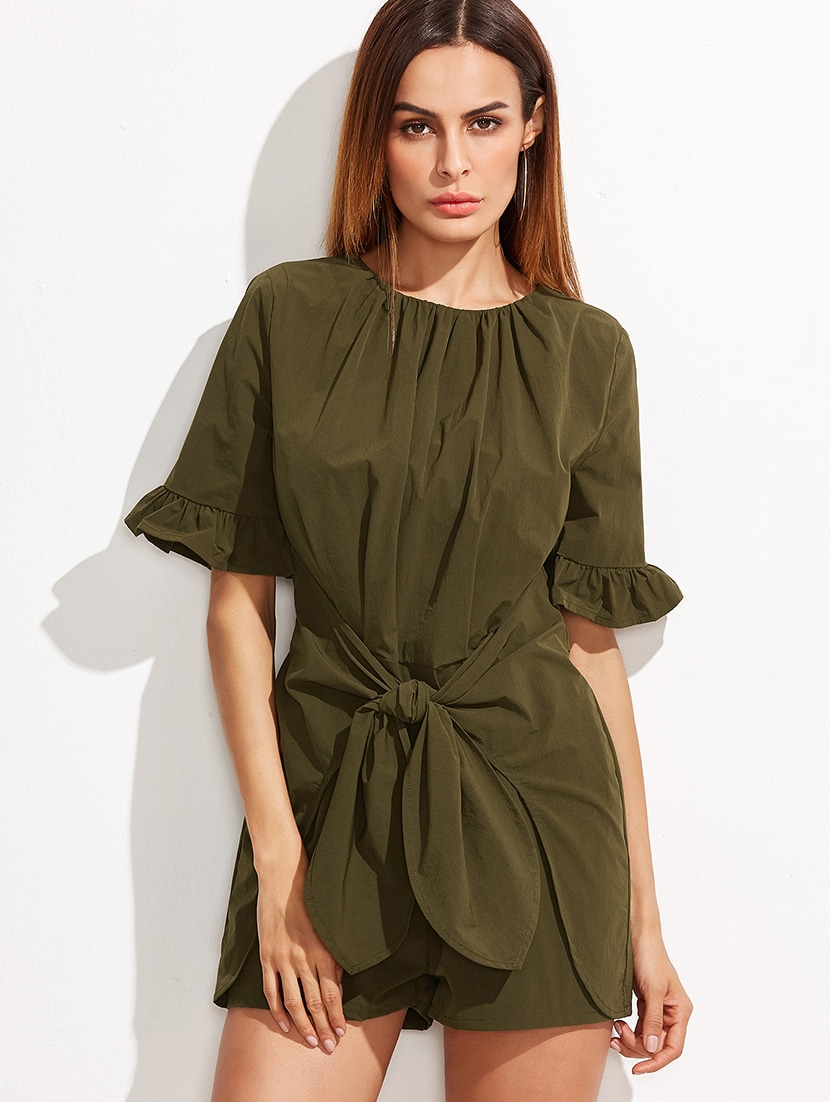 0a64718eb99 Buy Solid Olive Cotton Jumpsuit for Women from Liebemode for ₹4100 at 0%  off
