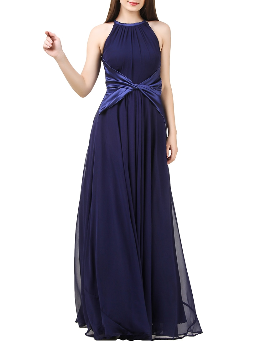 c963e6ea0d4f Buy Solid Navy Blue Maxi Dress for Women from I Wear My Style for ₹2758 at  54% off