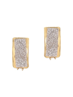 gold brass hoop earrings -  online shopping for Earrings