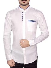 solid white linen casual shirt -  online shopping for casual shirts