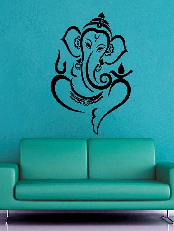 Wall Sticker Ganesh Ji Surface Covering Area 20 X 25 Inch
