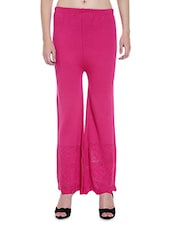 Hot Pink Acro Wool Palazzo Pants - By