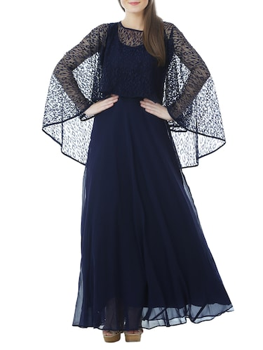 cape sleeved gown - 13252729 - Standard Image - 1