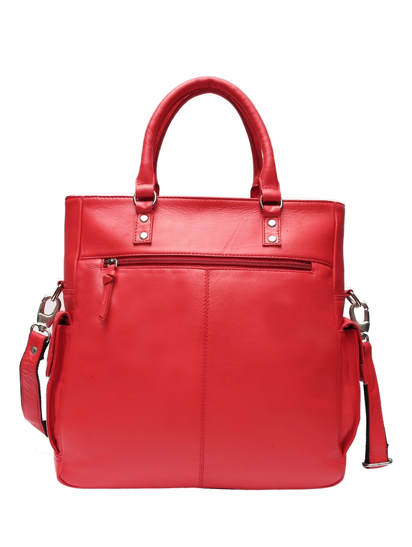 5096252b5851 Buy Red Leather Handbag by Adone - Online shopping for Handbags in India