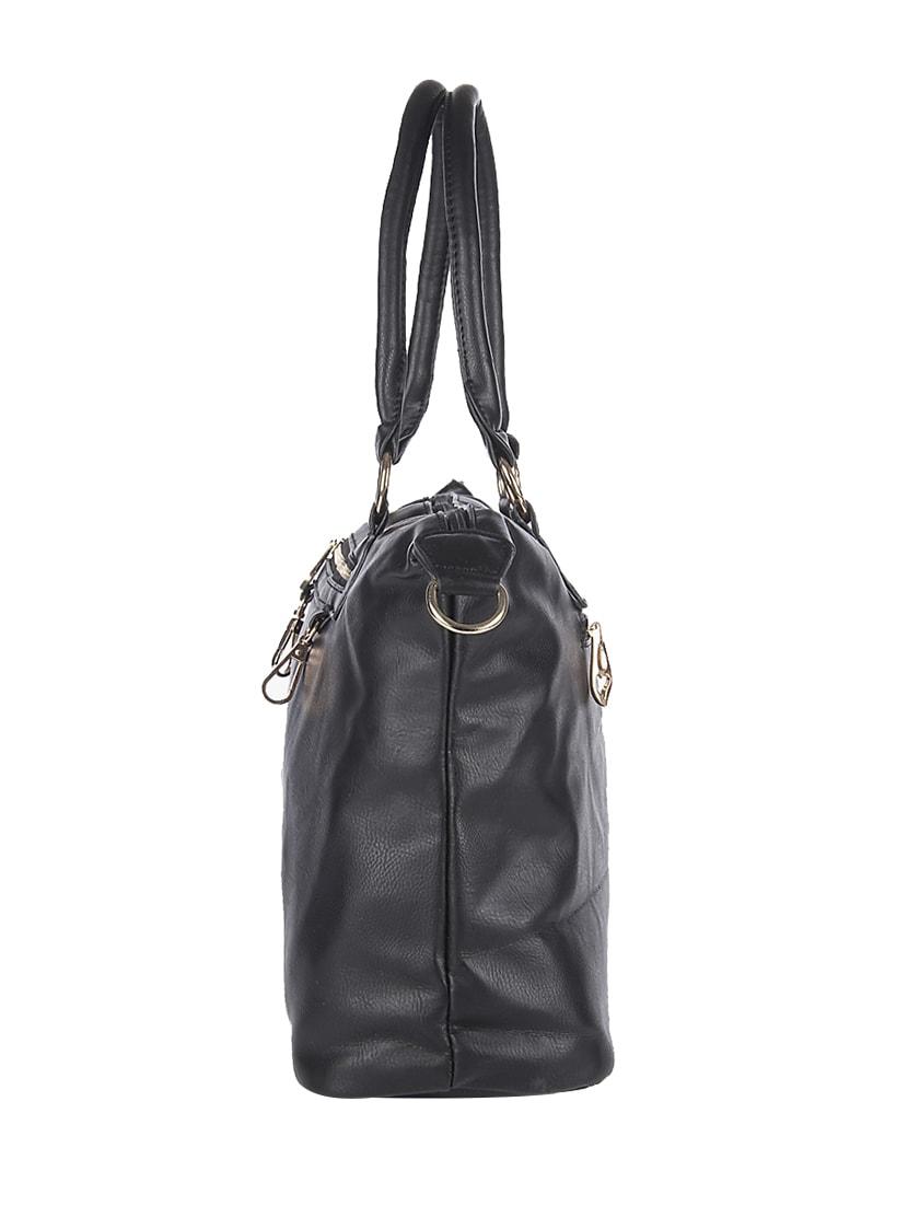 d0345a39b59 Buy Black Leatherette Handbag by Senora Bags - Online shopping for Handbags  in India