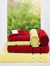 Story @ Home Set of 2 Pc BATH TOWEL  + 2 HAND TOWEL + 2 FACE TOWEL -  online shopping for towels
