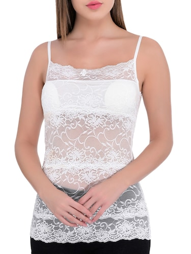 white net lace camisole - 13254089 - Standard Image - 1