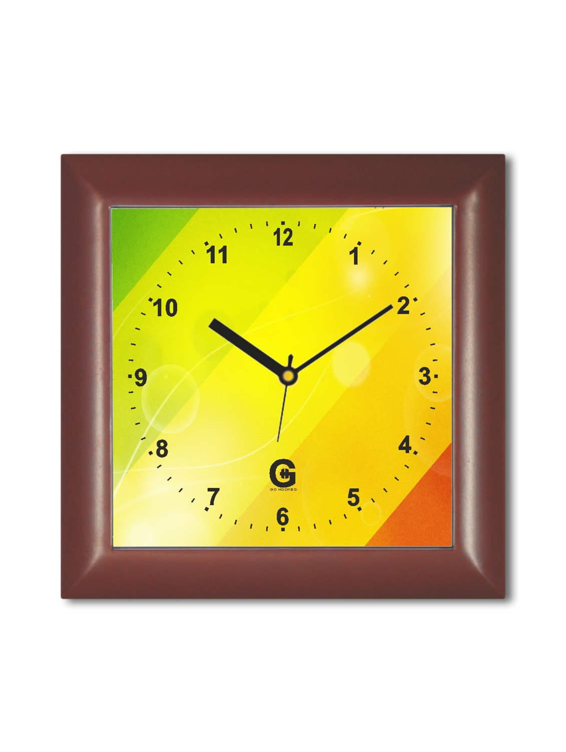 Multicolored Plastic And Glass Striped  Printed Wall Clock - By
