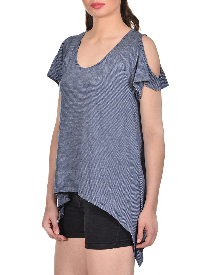 f9de6da1996a2 Buy Cold Shoulder Asymmetric Top by Rute - Online shopping for Tops in India