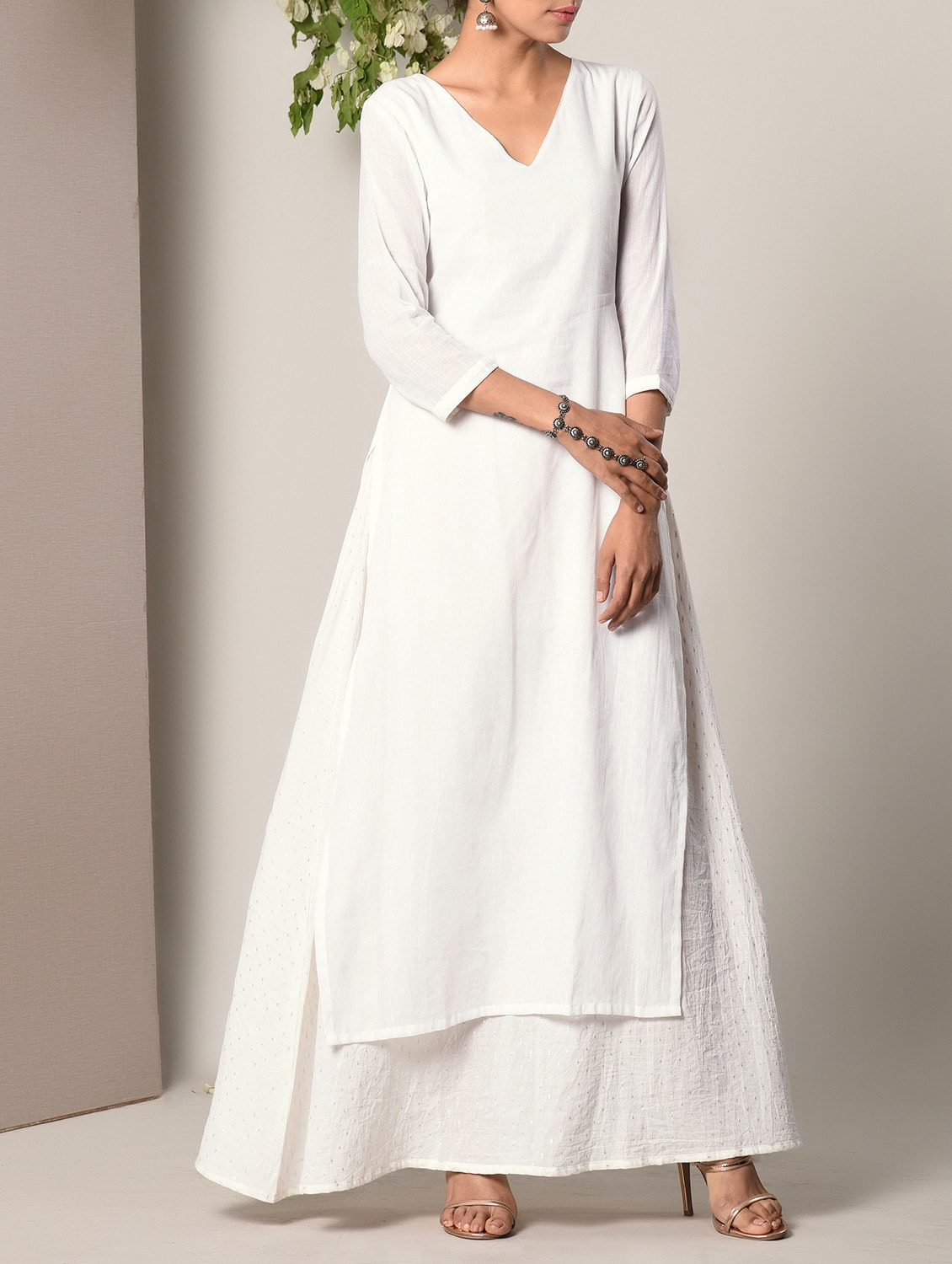 518944c23cc Buy White Layered Cotton Maxi Dress for Women from Truebrowns for ₹2814 at  12% off