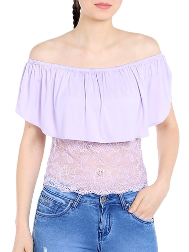light purple viscose top - 13269654 - Standard Image - 1