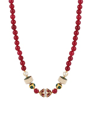 red crystal long necklace - Online Shopping for Necklaces
