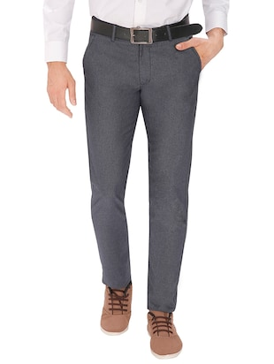 cb5bf044f91cbf grey cotton chinos casual trouser - online shopping for Formal Trousers