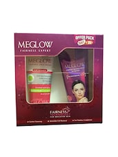 Meglow Cream 50g And Facewash 70g Gift Set For Women - By