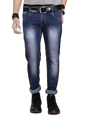 blue cotton washed jean -  online shopping for Jeans