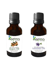 Combo Of Argan Oil And Lavender Oil For Hair Growth, Skin Care (Each 15ML)- 100% Pure Natural Oil - By