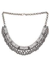 Silver German Silver tribal necklace -  online shopping for Necklaces